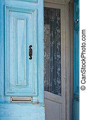 青, 玄関