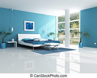 青, 現代, 寝室