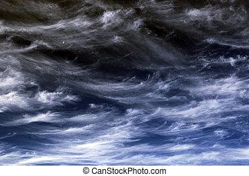 青, 白, 毛状突起, 空 ライト, 雲