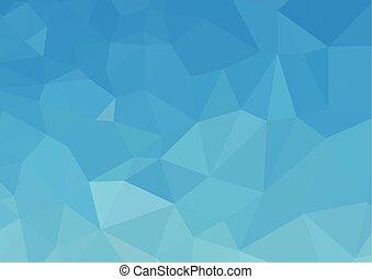 青, 白, polygonal, モザイク, 背景, ベクトル, イラスト, 創造的, ビジネス, テンプレートを設計しなさい