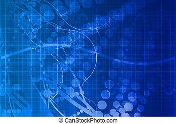 青, 科学, 医療技術, 抽象的, 未来派