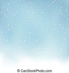青, 積雪量, 冬, 背景