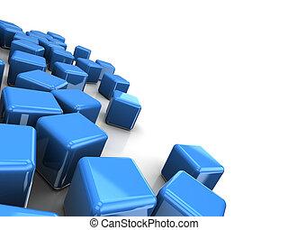 青, 立方体