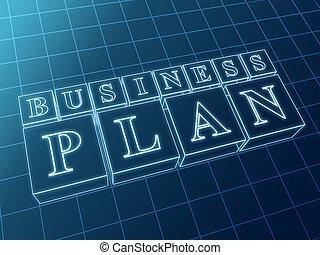 青, 箱, 計画, ビジネス