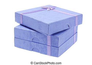 青, 箱, 贈り物