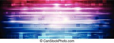 青, 紫色, 抽象的, 明るい, 背景, 幾何学的, 光沢がある