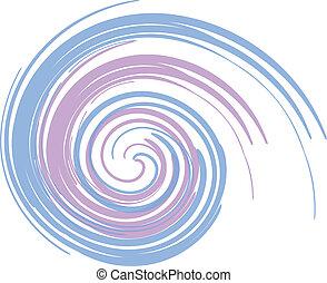 青, 紫色, 渦巻