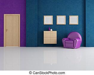青, 紫色, 部屋, 暮らし