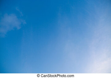 青, 終わり, 空, の上, 雲