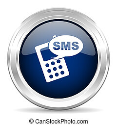 青, 網, sms, cirle, 暗い, グロッシー, 背景, 白, アイコン