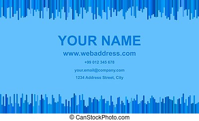 青, 縦, ビジネス, -, ストライプ, イラスト, デザイン, アイデンティティー, 調子, カード, テンプレート