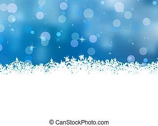 青, 美しい, snowflakes., eps, 8, クリスマス