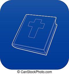 青, 聖書, ベクトル, アイコン