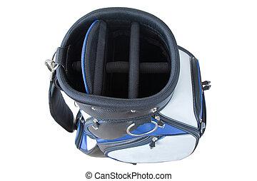 青, 肩, ゴルフ, 革ひも, 袋, 黒, ポケット, 速く, 多数, 白, リリース