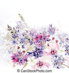 青, 背景, ピンク, 紫色, c