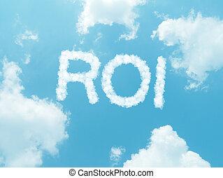 青, 背景, 空, デザイン, 言葉, 雲