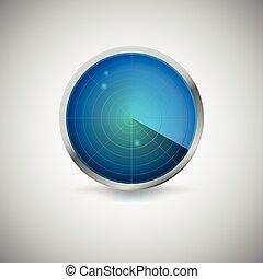 青, 色, スクリーン, targets., 放射状