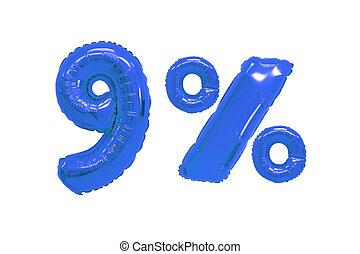 青, 色, パーセント, 暗い, 9, 風船