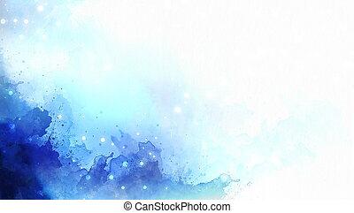 青, 色, 抽象的, バックグラウンド。, はねる, 白