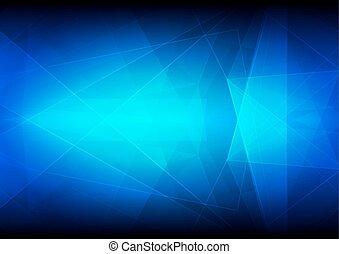 青, 色, 抽象的, ベクトル, 背景
