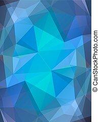 青, 色, 抽象的, 背景, ガラス