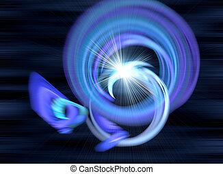 青, 色, 抽象的, 背景