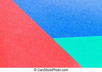 青, 色, 抽象的, 装飾, ペーパー, 緑の背景, デザイン, 赤