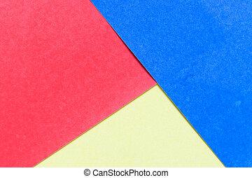 青, 色, 抽象的, 装飾, 黄色, ペーパー, デザイン, 背景, 赤