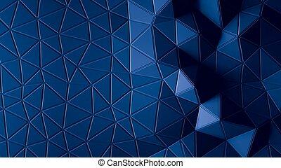 青, 色, 抽象的, polygonal, 背景, 幾何学的
