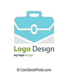 青, 色, 袋, ベクトル, デザイン, ロゴ