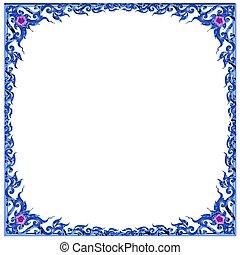 青, 花いっぱい, フレーム