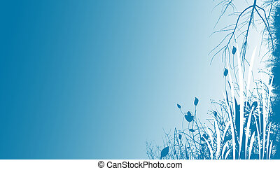 青, 花, 背景