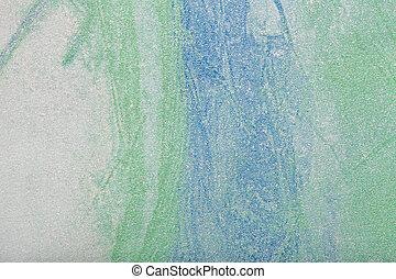 青, 芸術, キャンバス。, 抽象的, color., 多色刷り, 緑の背景, 絵