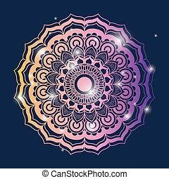 青, 装飾用, 花, カラフルである, 輝き, 色, 型, 才知に長けている, 装飾用である, 背景, mandala