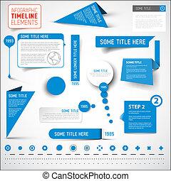 青, 要素, タイムライン, /, infographic, テンプレート