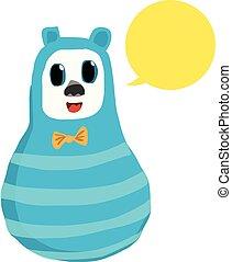 青, 話し, 熊