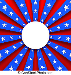 青, 赤, 背景, アメリカ, 白