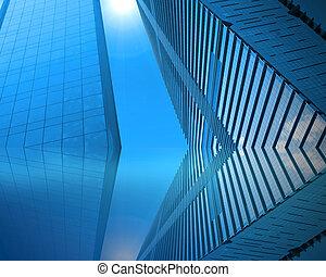 青, 超高層ビル
