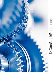 青, 車輪, 産業, ギヤ, 背景