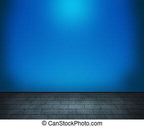 青, 部屋, 背景