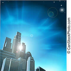 青, 都市の景観, 企業である