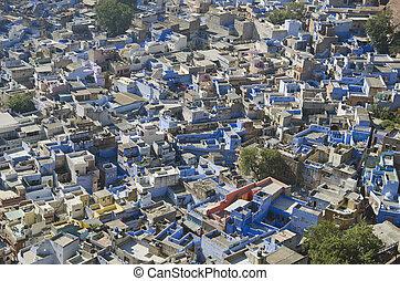 青, 都市,  Rajasthan, インド,  jodhpur