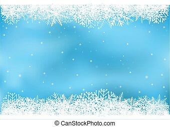 青, 雪片, 背景