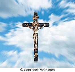 青, 雲, キリスト, 空, に対して, イエス・キリスト