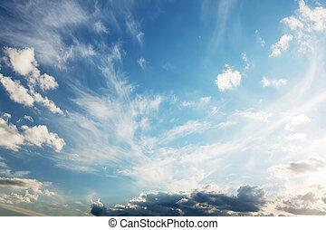 青, 雲, 空, 景色