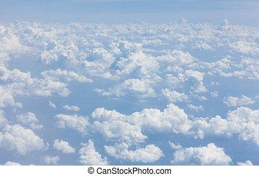 青, 雲, 空, 背景