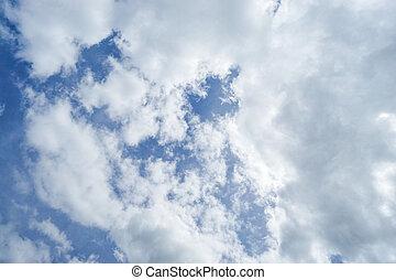 青, 雲, 自然, 大きい空, 背景