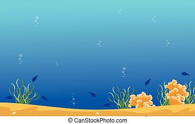 青, 風景, 砂洲, 海