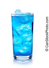 青, 飲みなさい, 氷 立方体