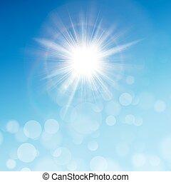 青, 10, 太陽, eps, sky.